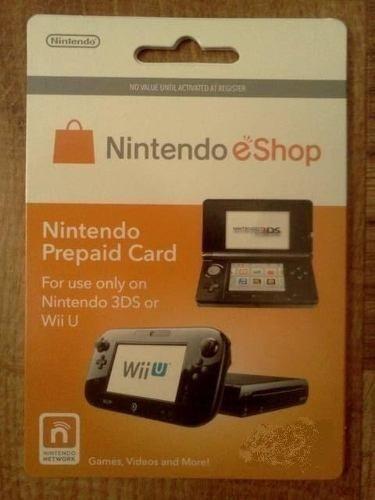 tarjeta prepago nintendo 2ds 3ds wii u switch eshop $10 $50