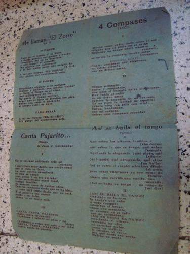 tarjeta propaganda lucio demare 1943 letras tango