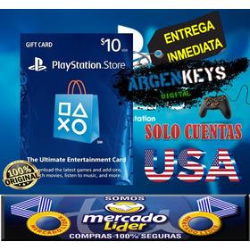 Tarjeta Psn 10 Usd (usa) Playstation Network Card   Ps3 Ps4