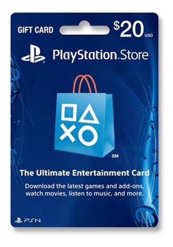 tarjeta psn 20 u$ digital usa | entrega inmediata - gamer24hs
