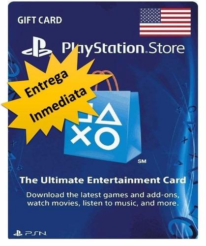 tarjeta psn 20 us$ usa codigo digital