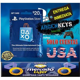 Tarjeta Psn 20 Usd (usa) Playstation Network Card   Ps3 Ps4