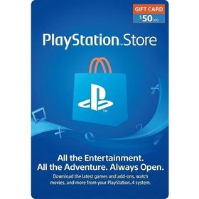 Tarjeta Psn $50 Usd Usa Playstation Network Card El Más Bajo