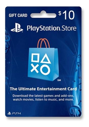 tarjeta psn u$10 usa ps3 ps4   entrega inmediata - gamer24hs