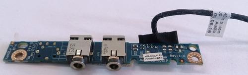 tarjeta puertos audio portatil compaq presario cq40