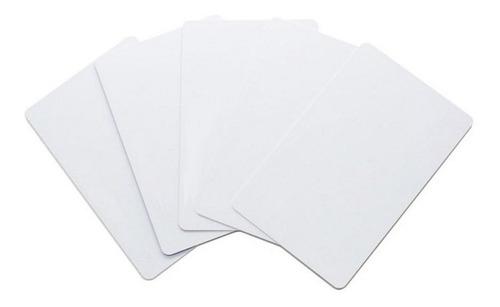 tarjeta pvc blanca cr80 alta calidad p/ credenciales gafetes