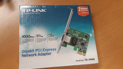 tarjeta red pci express tp-link gigabit tg-3468 10/100/1000