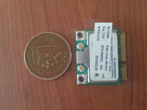 tarjeta red wifi 2.4g broadcom 94312hmg mini pci-e half