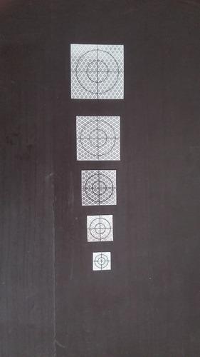 tarjeta reflectora de 5 x 5 cm para topcon sokkia leica...