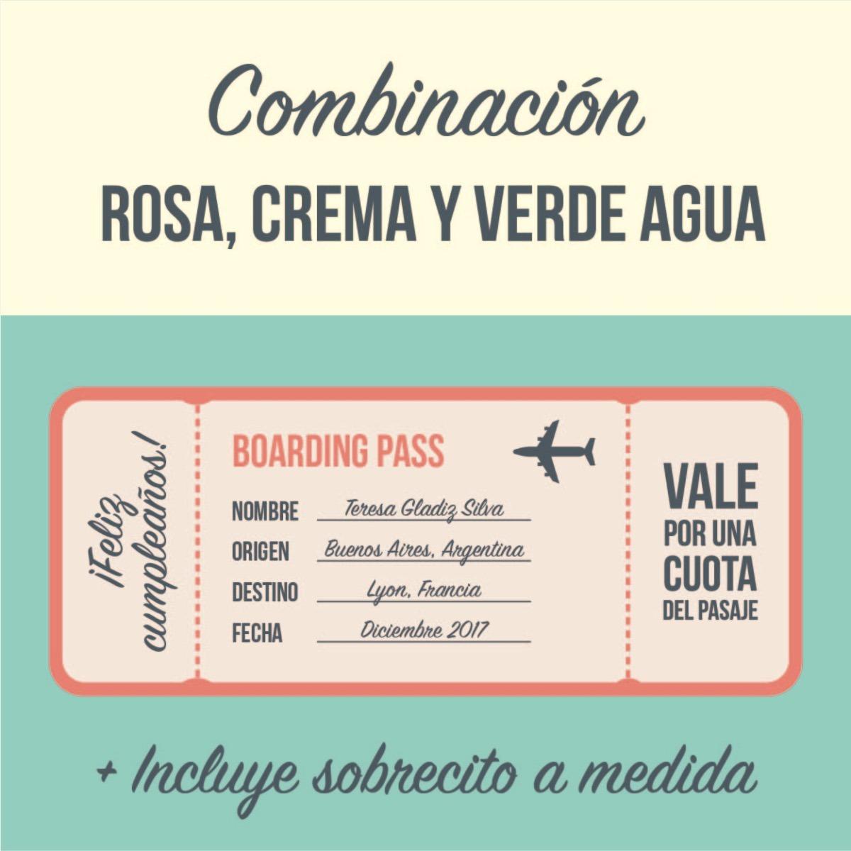 Tarjeta Regalo Personalizable! Gift Card Pasaje Aéreo - $ 30,00 en ...