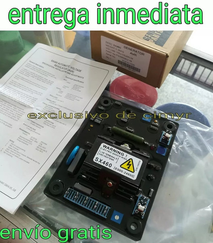 tarjeta reguladora avr sx460 stamford planta electrica nuevo