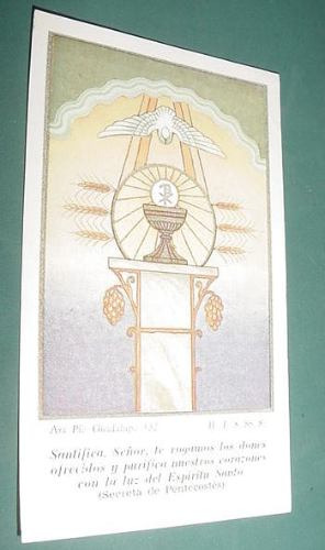 tarjeta religion oficializacion accion catolica 1956
