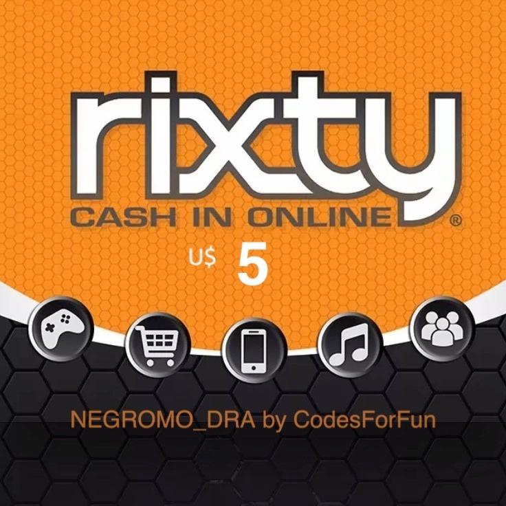 Tarjeta Rixty Game Card U 5 Roblox Y Muchos Juegos Online 311 30