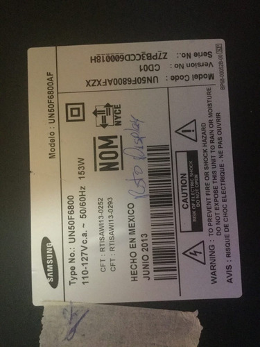 tarjeta samsung un50f6800 t-con. v500hk2-cps1 mv-094v-0