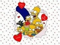 tarjeta simpsons trencito choo choo dia de los enamorados