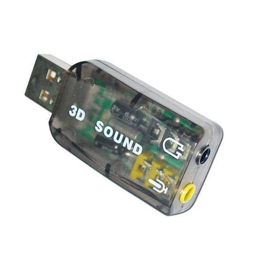 tarjeta sonido 5.1 canales adaptador usb audio virtual 3d