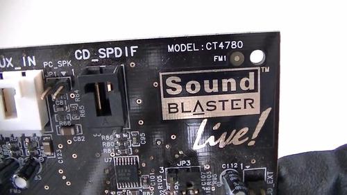 tarjeta sonido audio 5.1 creative sound blaster live ct4780