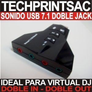 tarjeta sonido usb virtual dj doble in doble out profesional