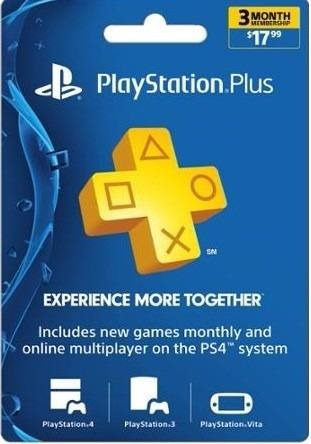 tarjeta sony playstation plus 3 meses psn ps4 - phone store