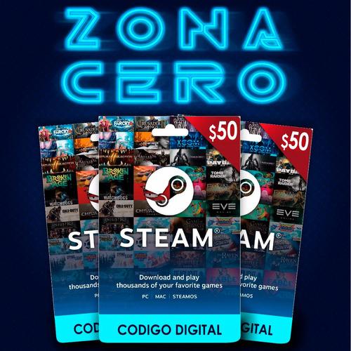 tarjeta steam computadora de $ 50