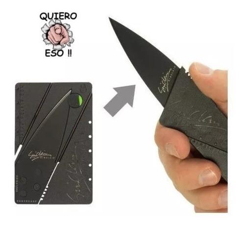tarjeta tactica wallet navaja cuchillo emergencia defensa