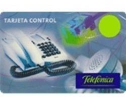 tarjeta telefónica control pin 25 - stock permanente