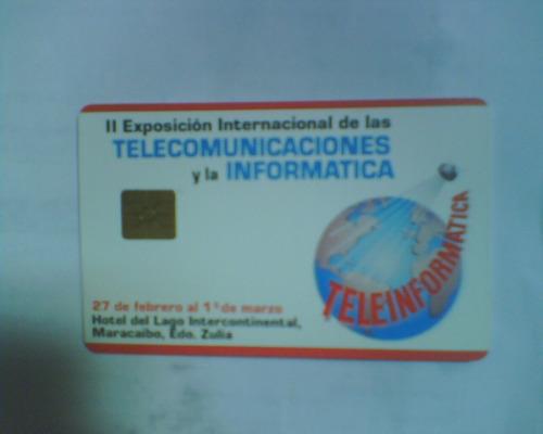 tarjeta telefonica de cantv teleinformatica usada
