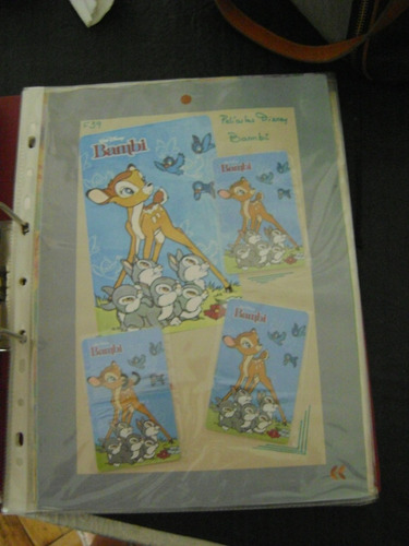 tarjeta telefonica disney bambi  1 coleccionable usada