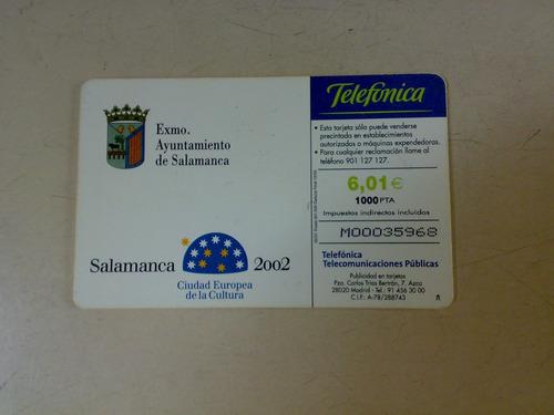 tarjeta telefonica salamanca 2002 españa telefonica usada