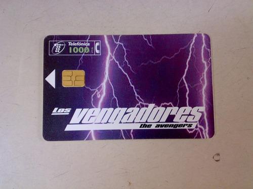 tarjeta telefonica the avengers españa telefonica usada cine