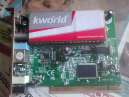 tarjeta tv marca k-world para pc