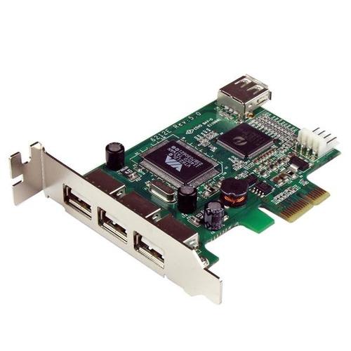 tarjeta usb startech.com 4 puertos alta velocidad bajo perfi