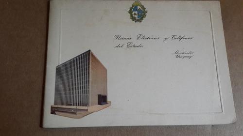 tarjeta usinas electricas y telefonos del estado 1957