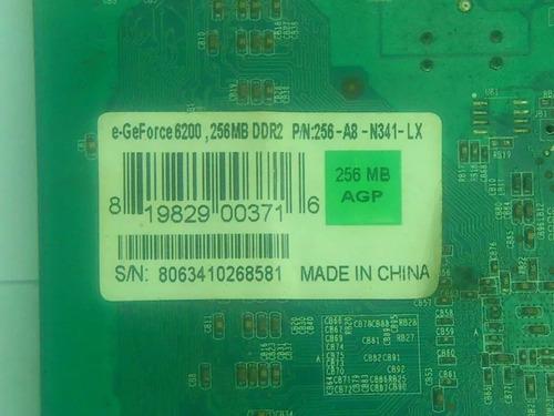 tarjeta video agp egeforce 6200 256mb (valido 25/junio/18)