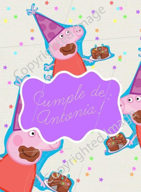 Tarjeta Video Invitación Animada Para Cumpleaños Peppa Pig 1