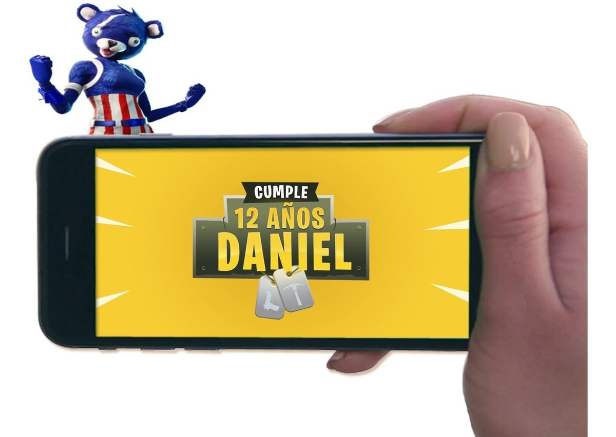 Tarjeta Video Invitacion Cumpleaños Fortnite