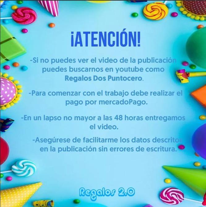 Tarjeta Video Invitacion Cumpleaños La Tematica Que Quieras