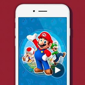 Tarjeta Invitacion Mario Bros Invitaciones Y Tarjetas Por