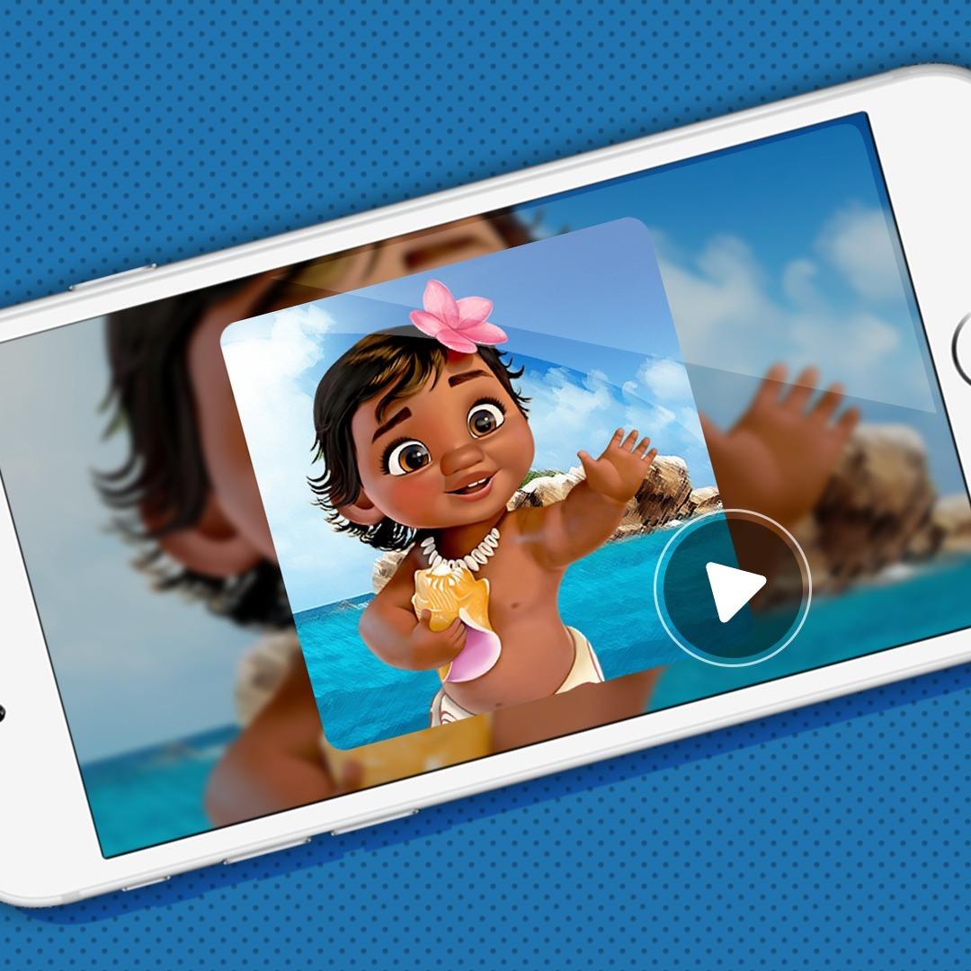 Tarjeta Video Invitación Digital Animada Moana Bebé