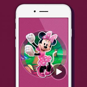Tarjeta Video Invitación Digital Cumpleaños Minnie Mouse