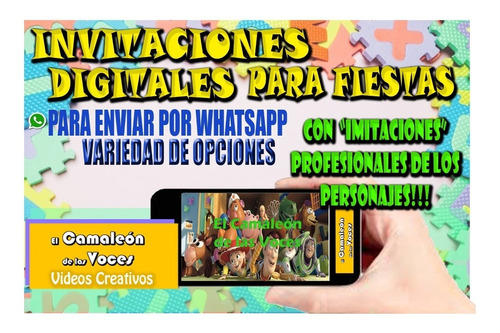 Tarjeta Video Invitación Toy Story 4 Con Forky C Doblaje Cv