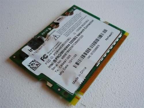 tarjeta wifi intel 2200bg interna notebook puerto mini-pci