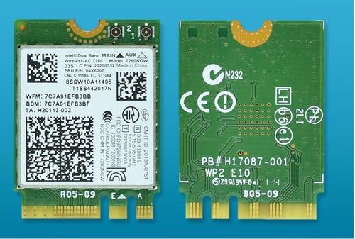 tarjeta wifi laptop doble banda intel ac 7260 2,4/5g bt4.0