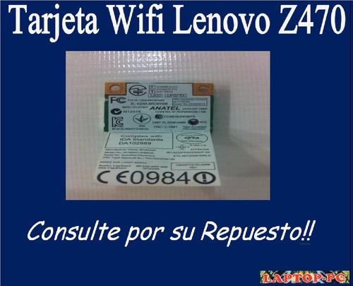 tarjeta wifi lenovo z470