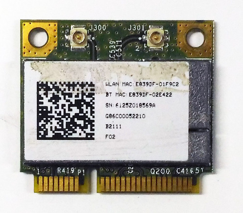 tarjeta wifi minipcie portatil broadcom bcm94313hmgb