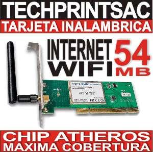 tarjeta wifi pci 54 mb atheros largo alcance internet gratis
