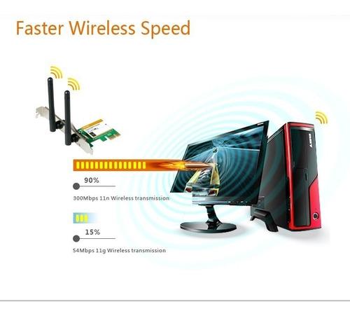 tarjeta wifi pci express inalambrica 300mbps w322e tenda