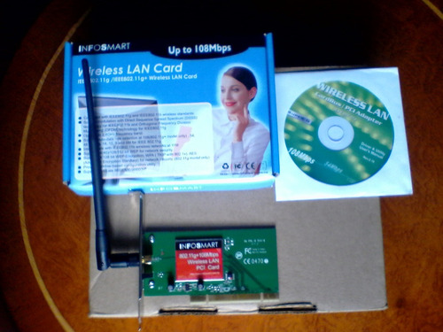 tarjeta wifi pci inalàmbrica 108 mbps nueva