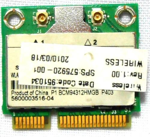 tarjeta wireless bcm94312hmg ipp4