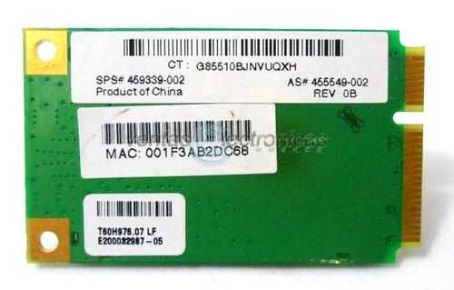 tarjeta wireless para hp dv6000 ipp4